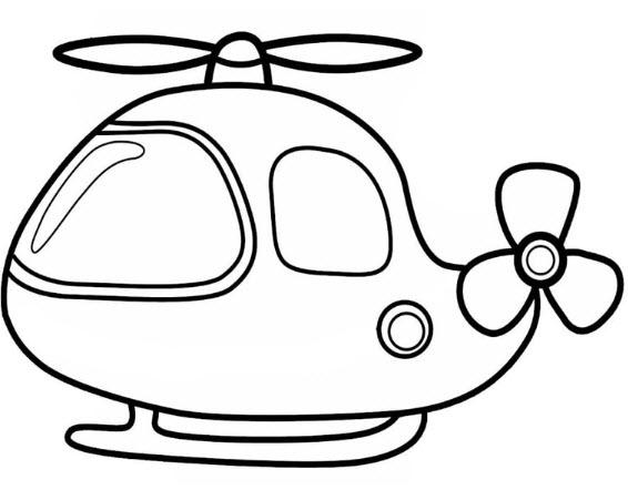 Tranh tô màu máy bay đơn giản