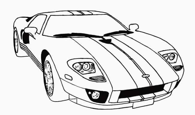 tranh tô màu xe đua