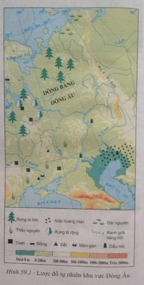 lược đồ tự nhiên khu vực đông âu