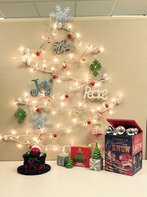 trang trí Noel bằng đèn nháy 2