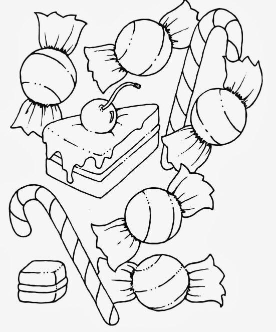 Tranh tô màu chủ đề bánh kẹo ngày giáng sinh cho bé ảnh 4