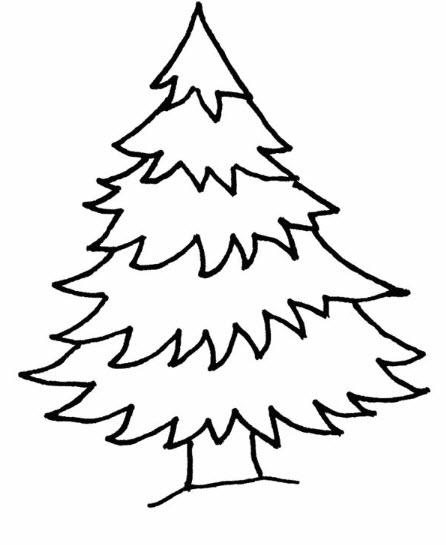 Tranh tô màu cây thông noel 1