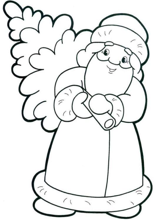 tranh tô màu ông già noel, ông già tuyết 4