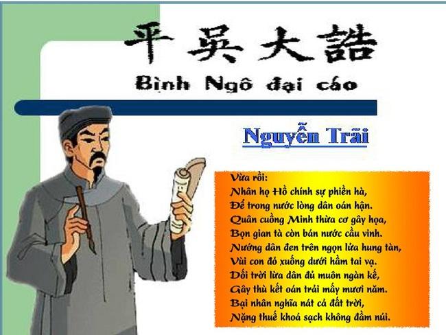 Phan tich tac pham Binh Ngo dai cao cua Nguyen Trai