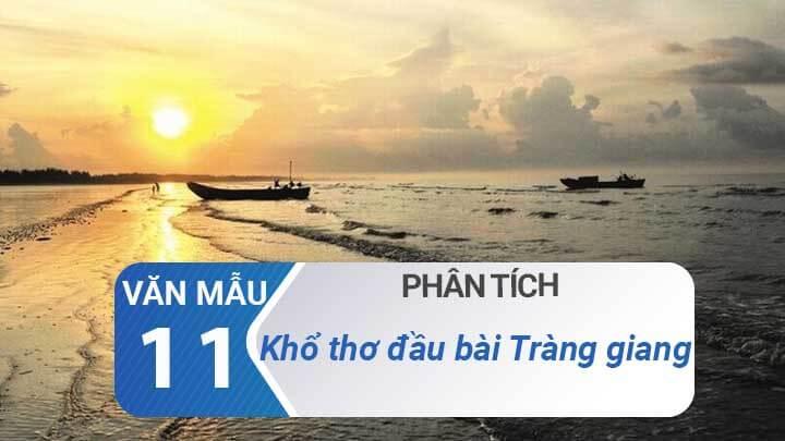 Phan tich kho tho dau bai Trang giang - Huy Can