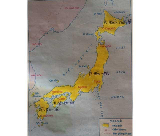 Hướng dẫn giải bài 1 trang 15 tập bản đồ sử 9