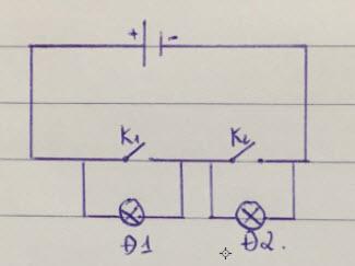bài tập sơ đồ mạch điện lớp 7 2 đèn 2 khóa