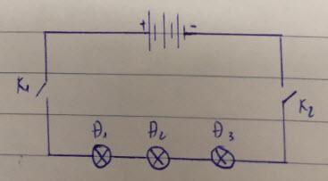Vẽ sơ đồ mạch điện gồm một bộ nguồn 3 pin