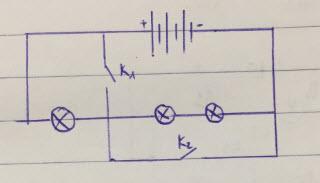 Vẽ sơ đồ mạch điện gồm 3 pin mắc nối tiếp