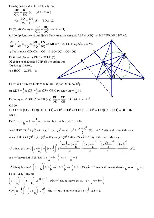 Đáp án đề thi toán chuyên vào lớp 10 tỉnh Bình Định 2018 trang 3