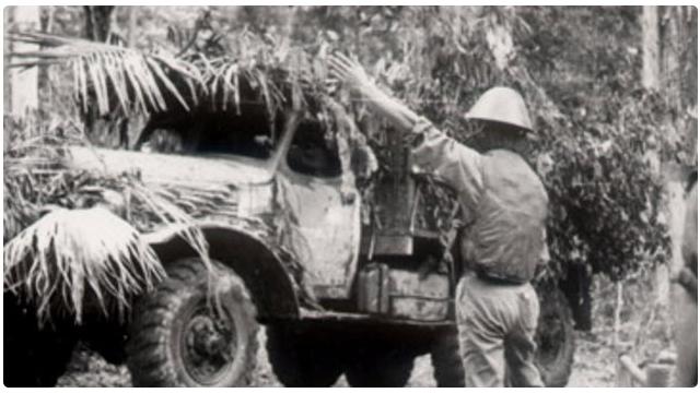 Hình ảnh chiếc xe không kính ở Trường Sơn