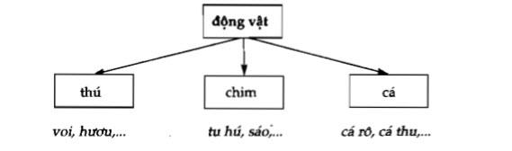 Soạn bài Cấp độ khái quát của nghĩa từ ngữ lớp 8 câu 1