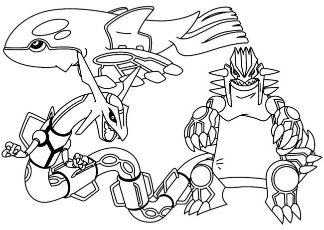 tranh tô màu pokemon huyền thoại Bộ Ba Thần Thú Truyền Thuyết