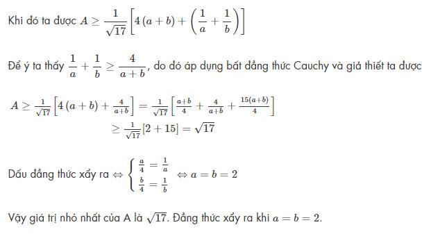 bài toán áp dụng bất đẳng thức Bunhiacopxki số 1
