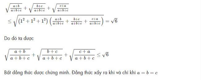 bài toán áp dụng bất đẳng thức Bunhiacopxki số 2