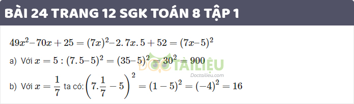 giải bài 24 sgk toán 8 tập 1 trang 12