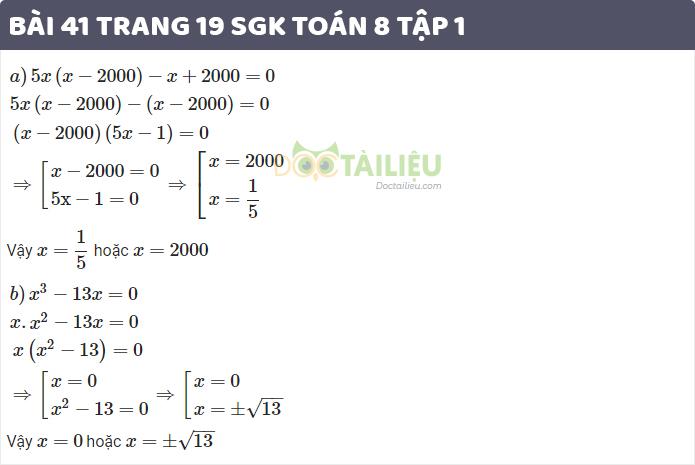 giải bài 41 sgk toán 8 tập 1 trang 19