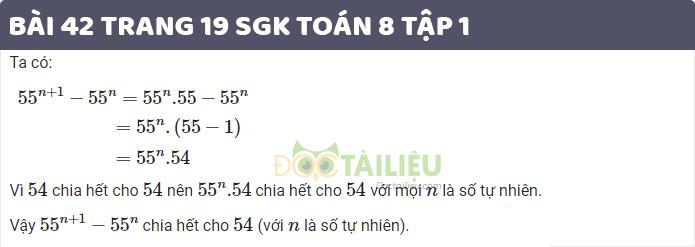giải bài 42 sgk toán 8 tập 1 trang 19