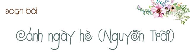 Soạn bài Cảnh ngày hè (Nguyễn Trãi)
