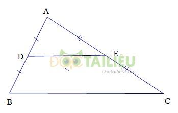 Lý thuyết Đường trung bình của tam giác, của hình thang ảnh 1