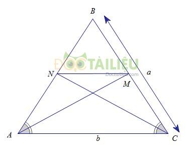 Tính chất đường phân giác của tam giác: Lý thuyết và các dạng bài thường gặp