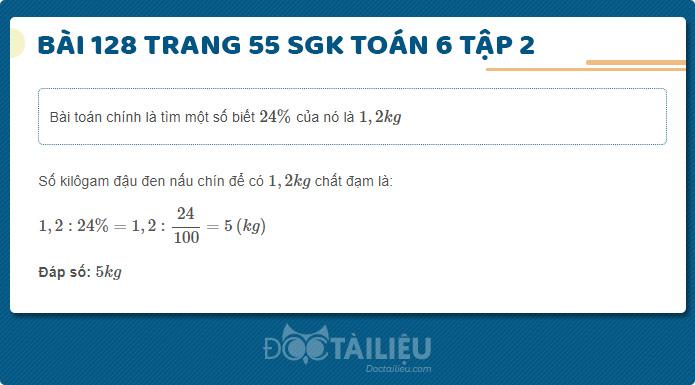 Hướng dẫn giải Bài 128 sgk Toán 6 tập 2 trang 55