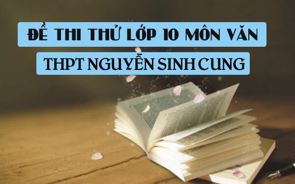 Đề thi thử vào lớp 10 môn Văn 2020 trường THPT Nguyễn Sinh Cung
