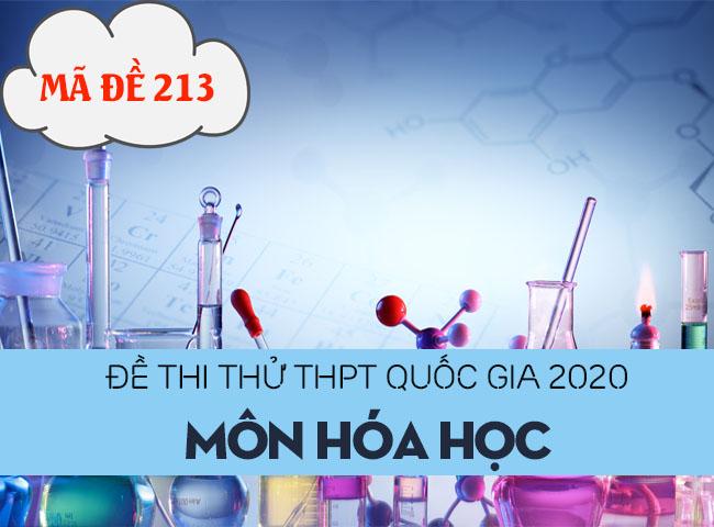 Đề thi thử THPT Quốc gia 2020 môn Hóa có đáp án mã đề 213