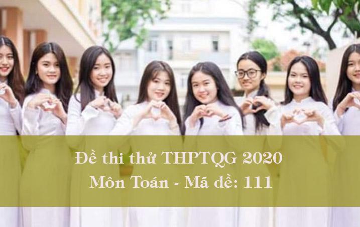 Đề thi thử THPT Quốc gia 2020 môn Toán có đáp án mã đề 111