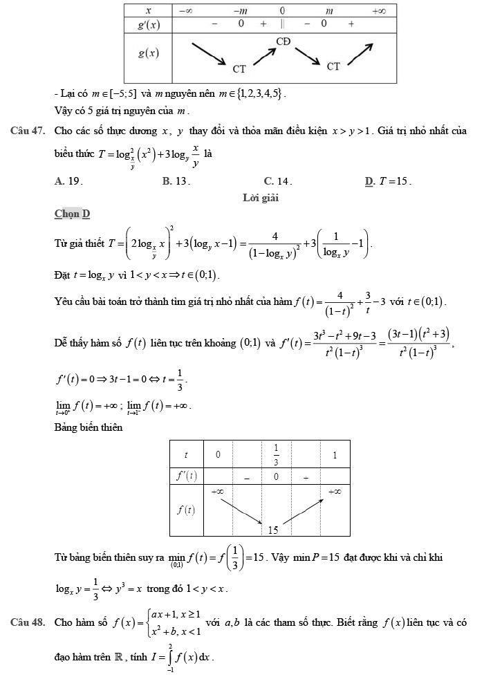 Giải đề thi thử môn Toán 2020 phát triển theo đề minh họa số 1 trang 17