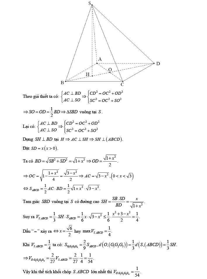 Giải đề thi thử môn Toán 2020 phát triển theo đề minh họa số 1 trang 19