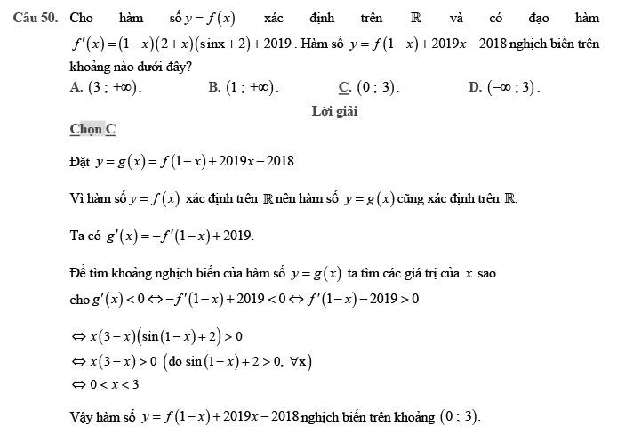 Giải đề thi thử môn Toán 2020 phát triển theo đề minh họa số 1 trang 20