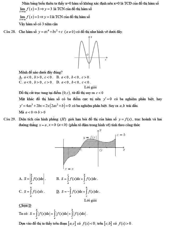 Giải đề thi thử môn Toán 2020 phát triển theo đề minh họa số 1 trang 8