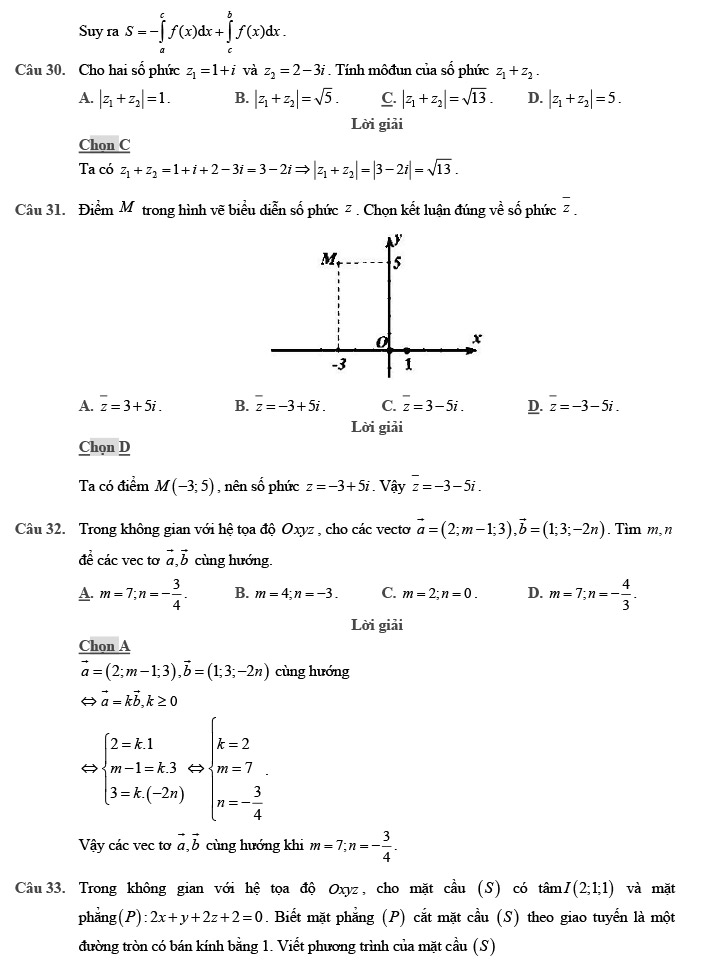 Giải đề thi thử môn Toán 2020 phát triển theo đề minh họa số 1 trang 9
