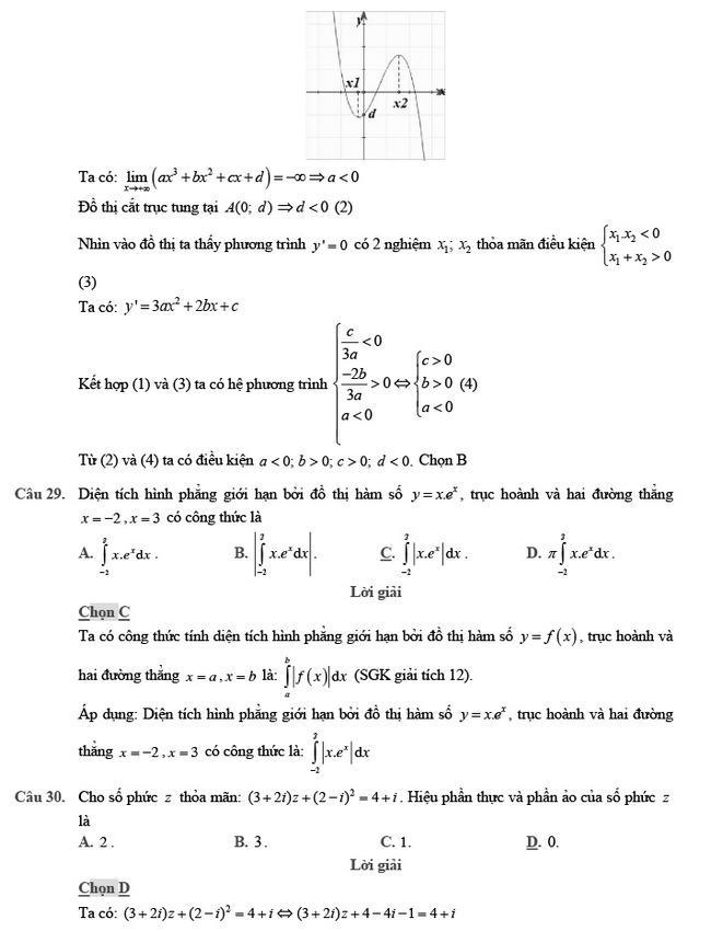 giải đề thi thử môn Toán 2020 phát triển đề minh họa số 2 trang 10
