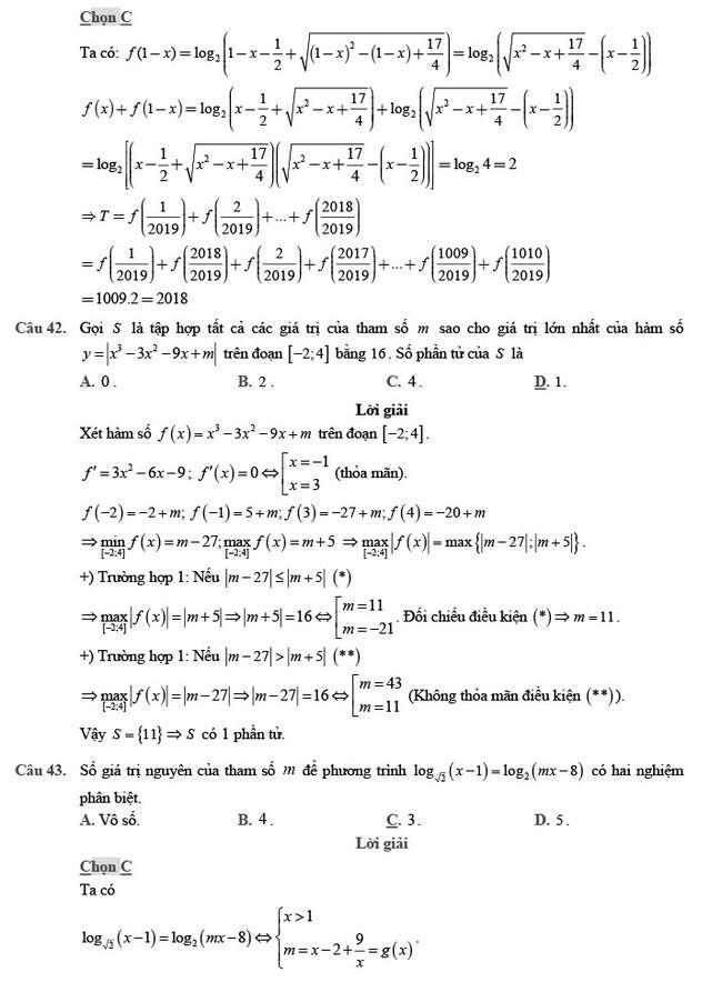 giải đề thi thử môn Toán 2020 phát triển đề minh họa số 2 trang 15
