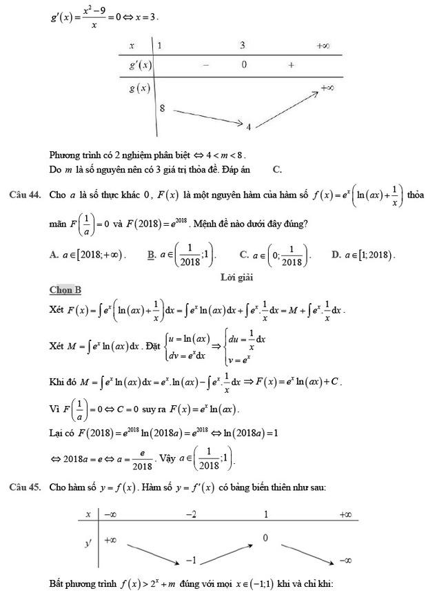 giải đề thi thử môn Toán 2020 phát triển đề minh họa số 2 trang 16