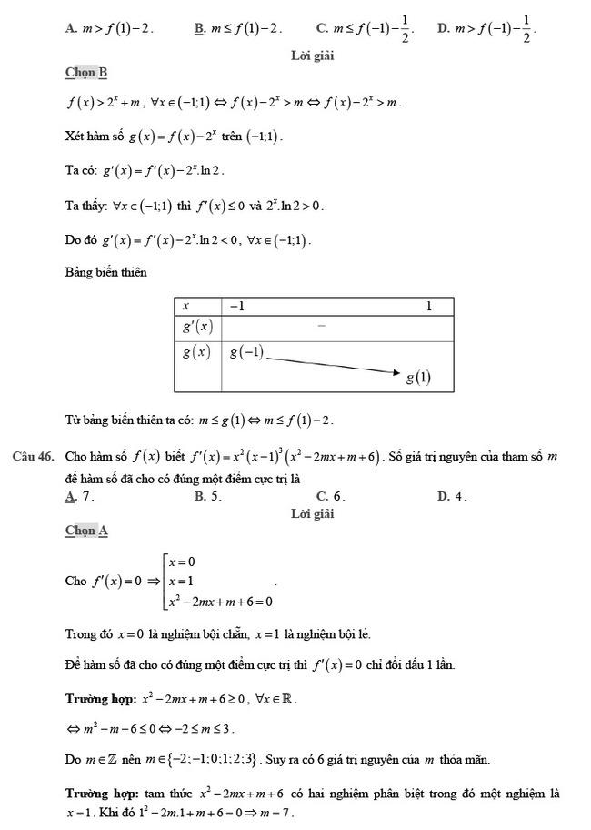 giải đề thi thử môn Toán 2020 phát triển đề minh họa số 2 trang 17
