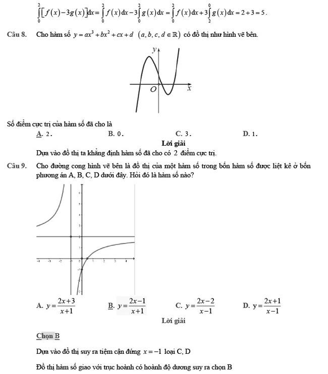 giải đề thi thử môn Toán 2020 phát triển đề minh họa số 2 trang 3