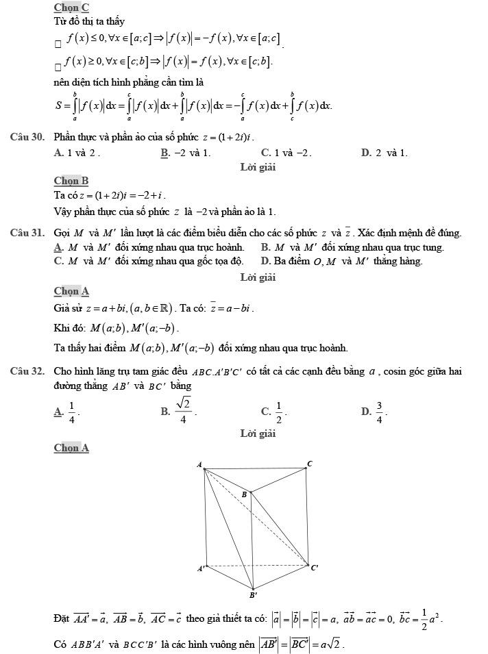 Gỉai đề thi thử môn Toán THPTQG 2020 phát triển theo đề minh họa trang 10