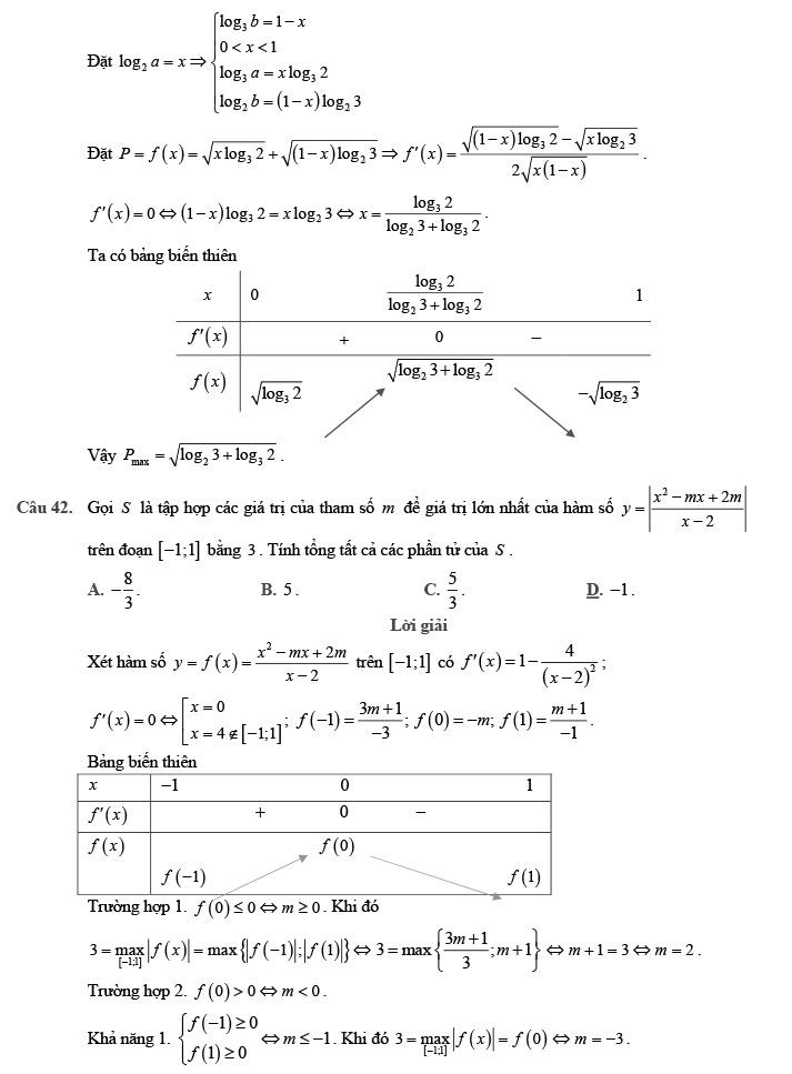 Gỉai đề thi thử môn Toán THPTQG 2020 phát triển theo đề minh họa trang 15