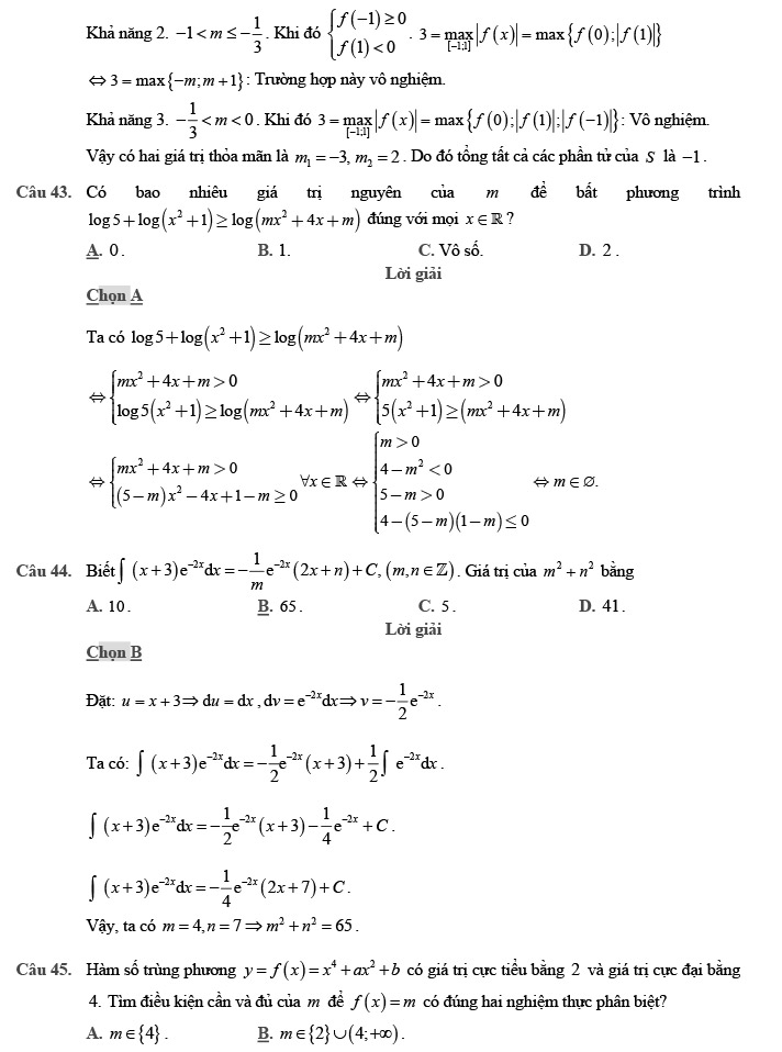 Gỉai đề thi thử môn Toán THPTQG 2020 phát triển theo đề minh họa trang 16