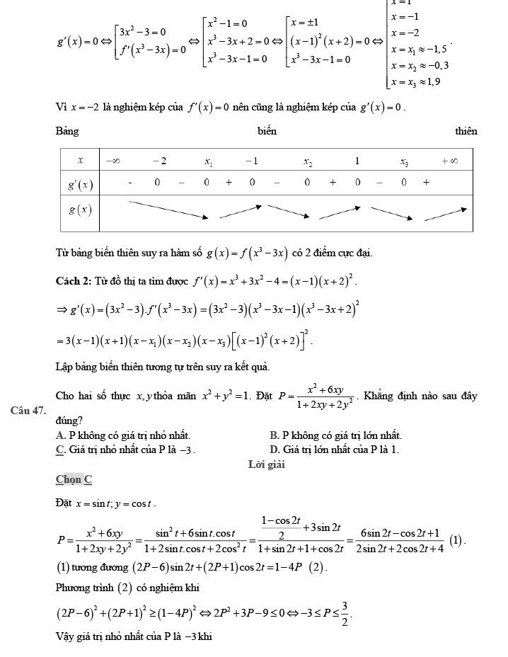 Gỉai đề thi thử môn Toán THPTQG 2020 phát triển theo đề minh họa trang 18