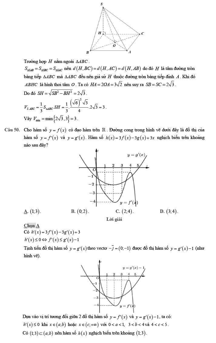Gỉai đề thi thử môn Toán THPTQG 2020 phát triển theo đề minh họa trang 20