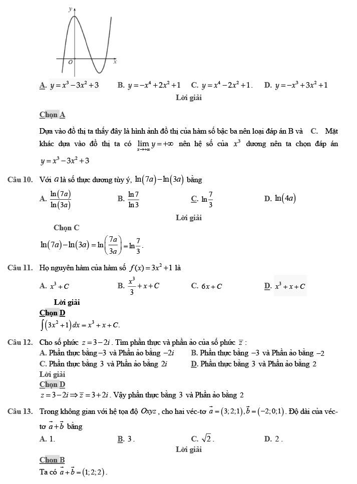 Gỉai đề thi thử môn Toán THPTQG 2020 phát triển theo đề minh họa trang 3