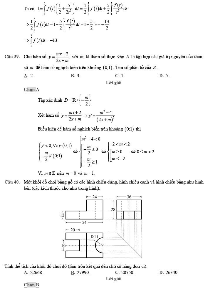 giải chi tiết đề thi thử môn THPT Quốc gia môn Toán 2020 theo đề minh họa trang 12