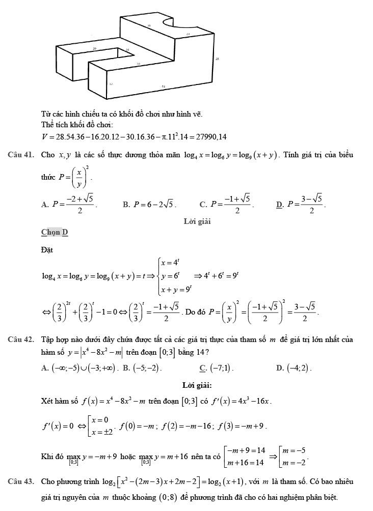 giải chi tiết đề thi thử môn THPT Quốc gia môn Toán 2020 theo đề minh họa trang 13