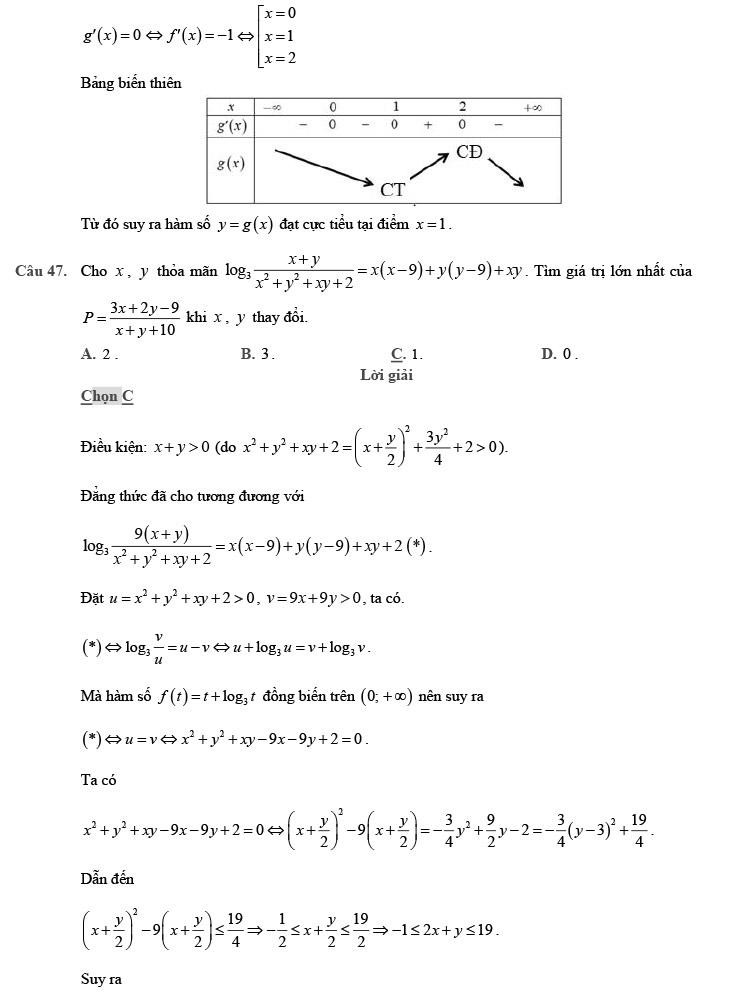 giải chi tiết đề thi thử môn THPT Quốc gia môn Toán 2020 theo đề minh họa trang 16