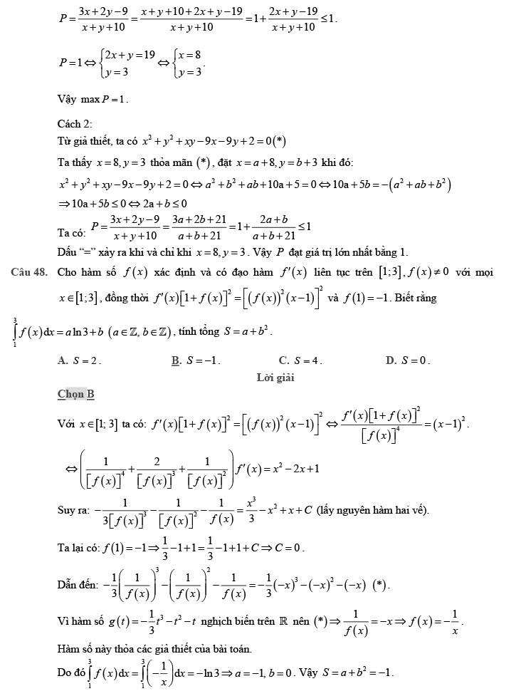 giải chi tiết đề thi thử môn THPT Quốc gia môn Toán 2020 theo đề minh họa trang 17