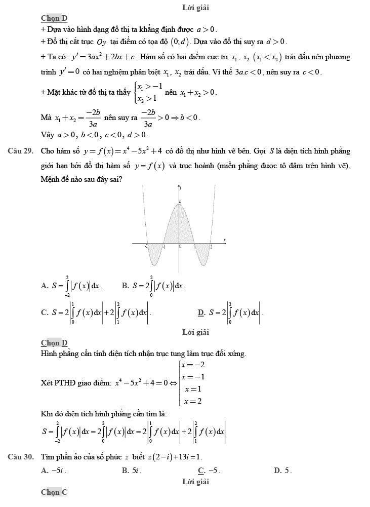 giải đề thi thử môn Toán 2020 phát triển theo đề minh họa số 4 trang 8